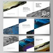 Vector Layout Of Square Format Covers Design Templates For Trifold Brochure, Flyer, Magazine. Big Da poster