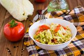 Salad Of Tomatoes And Peking Cabbage With Vegetable Oil poster