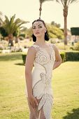 Wedding Fashion Concept. Wedding Woman With Fashion Look. Fashion Model In Wedding Dress. Fashion As poster