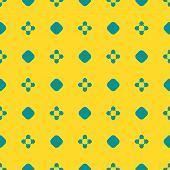 Bright Colorful Geometric Seamless Pattern. Simple Vector Abstract Texture With Small Floral Shapes, poster