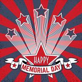 Happy Memorial Day Background With Stars And Stripes. Happy Memorial Day Poster. Patriotic Banner. G poster