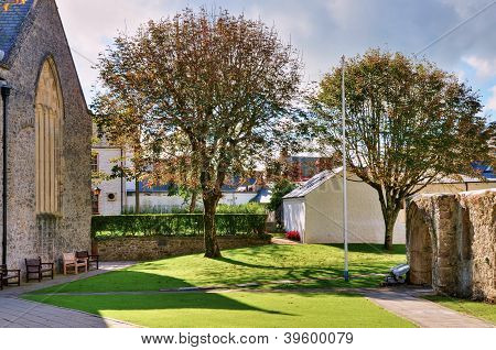 The grounds of St Mary's Church, Tenby.