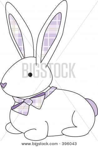 Bunny Purple Plaid