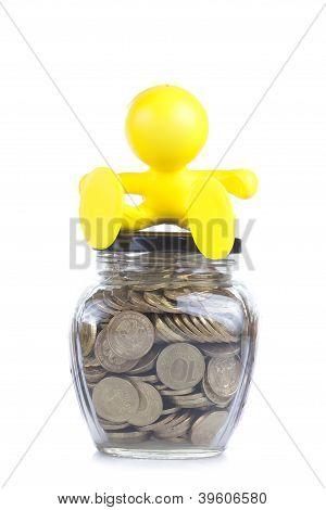 Symbol of accumulation of money