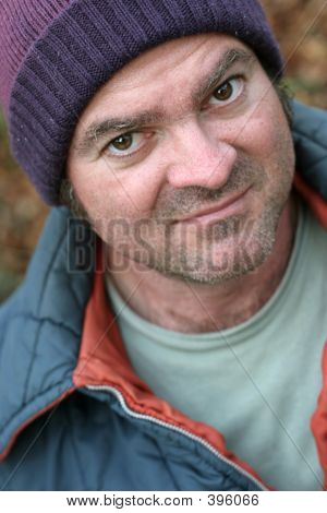 Homeless Man - Close-up Portrait