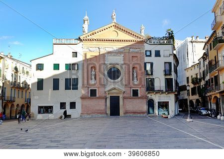 Front View On View On Piazza Dei Signori And Church Of San Clemente In Padua