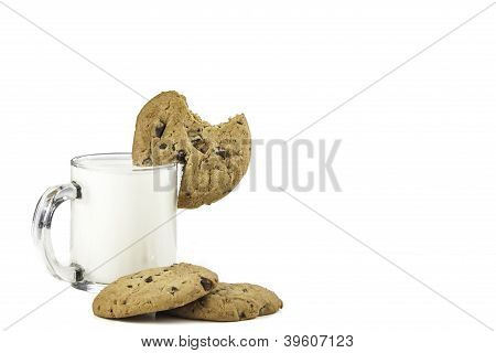 Milk And Cookies With Bite