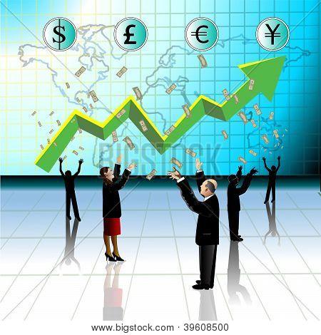 Money-people Earn Money