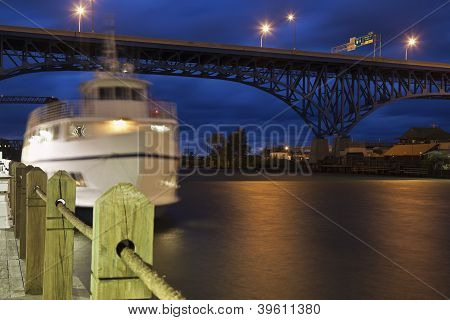 Boat On Cuyahoga River