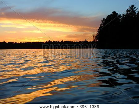 Northern Wisconsin Lake Sunset