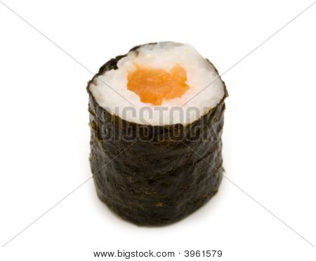 Single Sush Isolated On A White Background