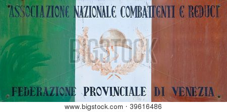 Italian Flag Of Veterans