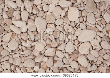 Decorative floor texture with gravel stones
