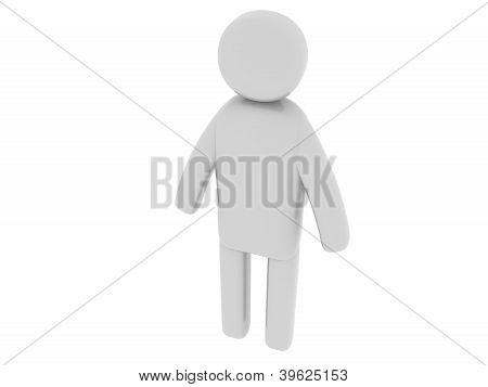 Gray man standing