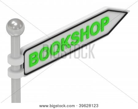 Bookshop Arrow Sign With Letters
