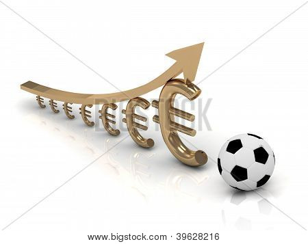 Soccer Ball And Chart The Growth Of The Euro