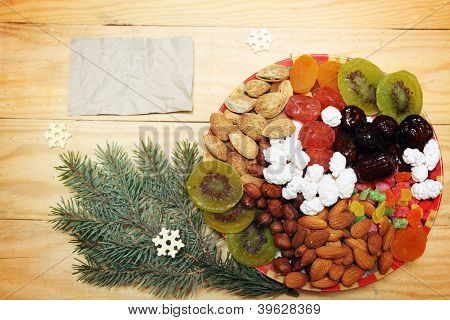 Plate With Dried Fruit