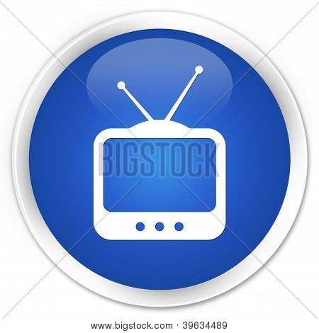 TV Icon Blue Button