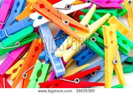 Several Clothespins