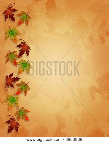 Fall Autumn Leaves Border