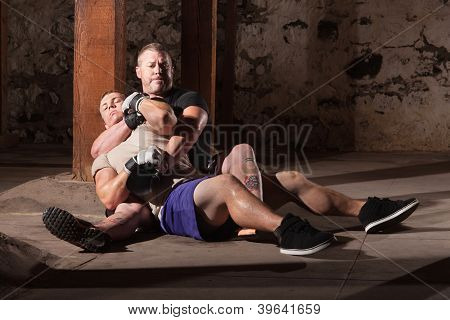 Fighter In Choke Hold