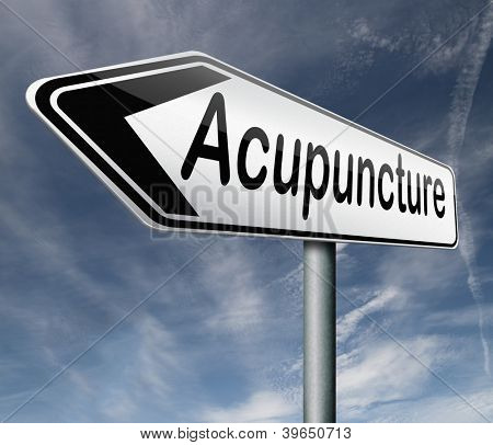 acupuncture an alternative medicine with needles inserted on energy lines