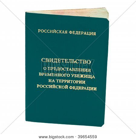 Certificate Of Temporary Asylum In Russian Federation