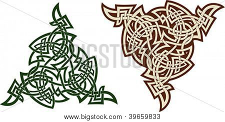 Traditional Celtic triskell. Tattoo pattern. Scalable Vector illustration.
