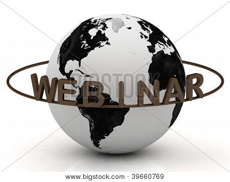 Wood Webinar And Ring, Abstraction Of The Inscription Around The Earth