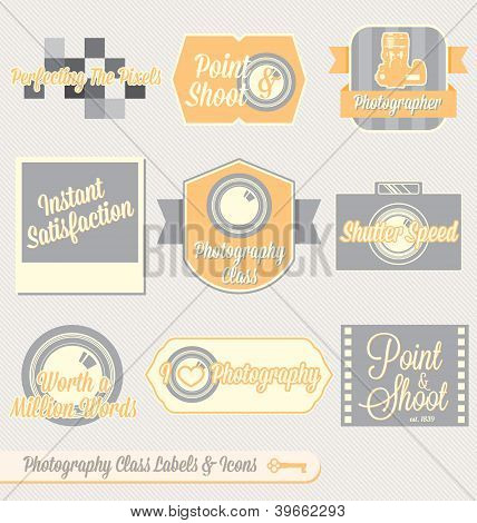 Vintage Photography Class Labels