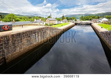 Caledonian Canal at Fort Augustus , Scotland
