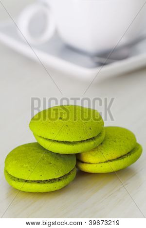 Mint Marron Cookies With Chocolate Cream