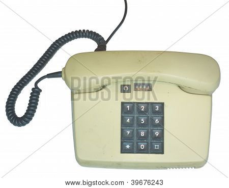 Old push-button telephone