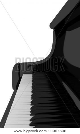Piano Keyboard Close Up , Clipping Path