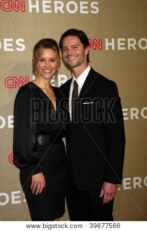 LOS ANGELES - DEC 2:  KaDee Strickland, Jason Behr arrives to the 2012 CNN Heroes Awards at Shrine Auditorium on December 2, 2012 in Los Angeles, CA