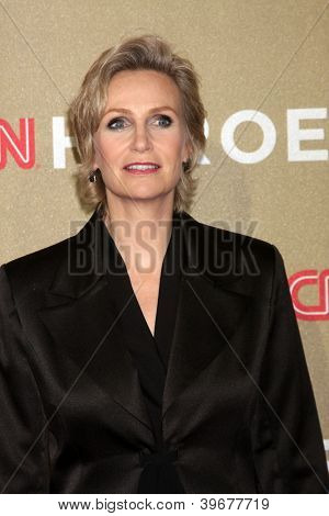 LOS ANGELES - DEC 2:  Jane Lynch arrives to the 2012 CNN Heroes Awards at Shrine Auditorium on December 2, 2012 in Los Angeles, CA
