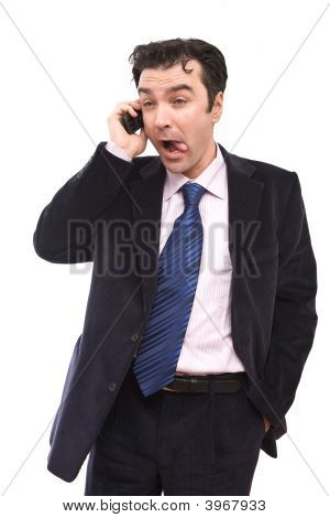 Funny Businessman On The Phone