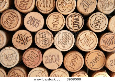 Wine Corks With Years