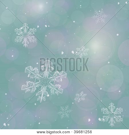 Abstract New Year's Background In Shades Of Gray With Snowflakes