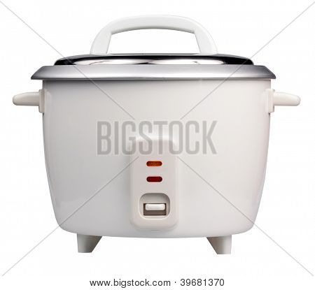 Electric rice cooker isolated on a white background