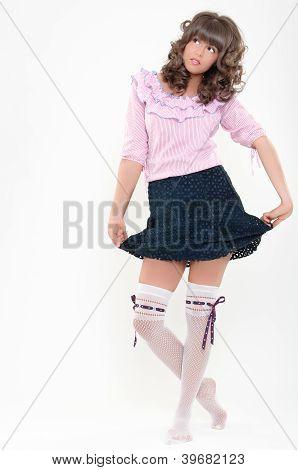 Girlish look