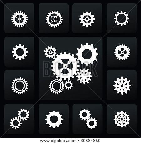 gearwheel mechanism icon