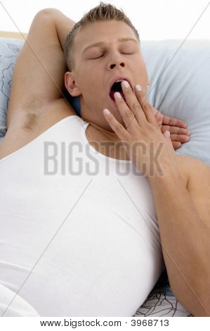 Yawning Young Man