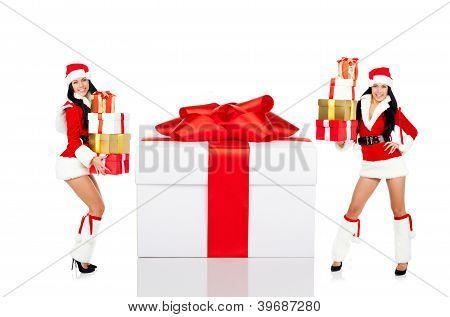 Santa girl creative design