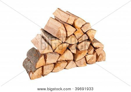 Large Stack Of Firewood
