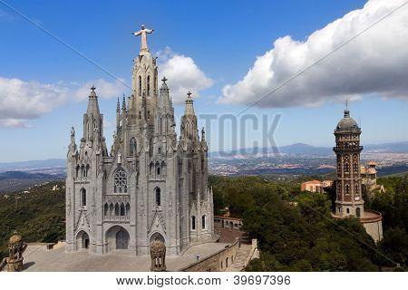 Temple De Sagrat Cor, Tibidabo, Barcelona