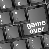 foto of game_over  - Computer keyboard with game over key  - JPG