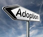 stock photo of guardian  - child adoption becoming a legal guardian and getting guardianship over young child road sign arrow - JPG