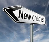 stock photo of start over  - new chapter fresh start over or begin again and have an extra opportunity road sign arrow - JPG