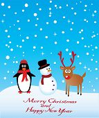 picture of rudolf  - vector card with reindeer - JPG